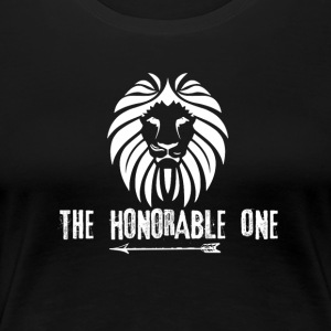Lion: The Honorable One (White) - Women's Premium T-Shirt