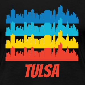 Retro Tulsa OK Skyline Pop Art - Women's Premium T-Shirt