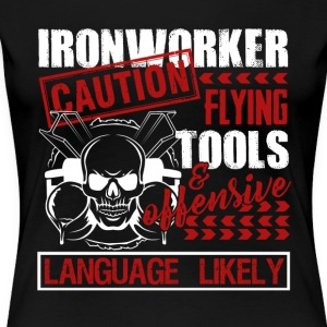 Caution Ironworker Tee Shirt - Women's Premium T-Shirt
