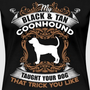 BLACK TAN COONHOUND SHIRT - Women's Premium T-Shirt