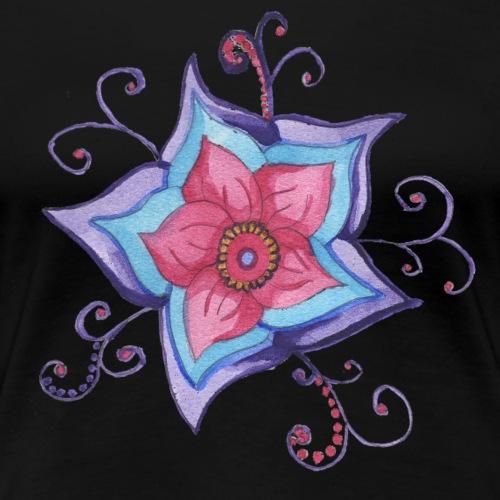 Whimsical Watercolor Flower Design - Women's Premium T-Shirt