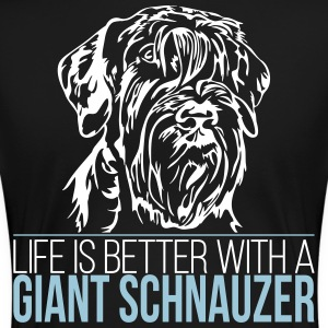 LIFE IS BETTER WITH A GIANT SCHNAUZER - Women's Premium T-Shirt