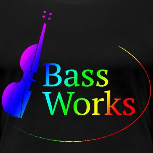 Bass Works Logo - Pride 2020 Rainbow Wash - Women's Premium T-Shirt