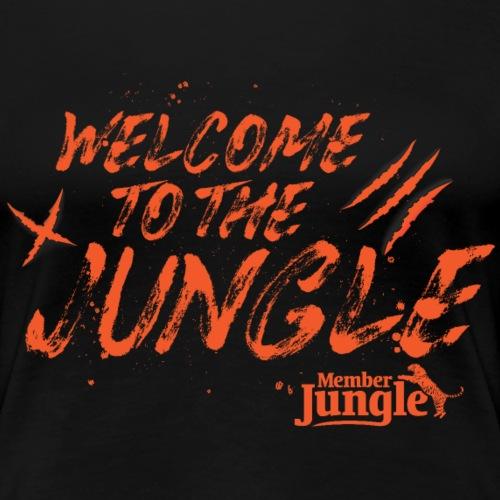 Welcome to the Member Jungle Orange - Women's Premium T-Shirt