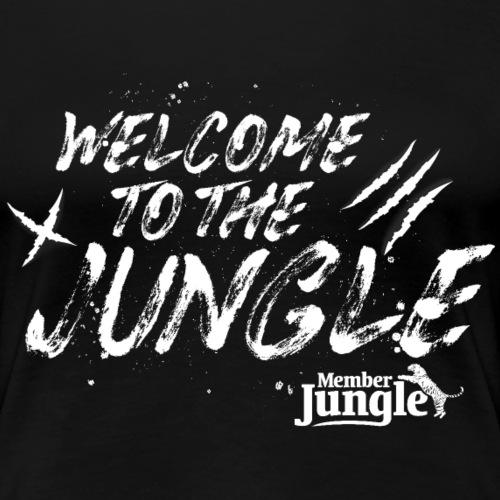 Welcome to the Member Jungle (White) - Women's Premium T-Shirt