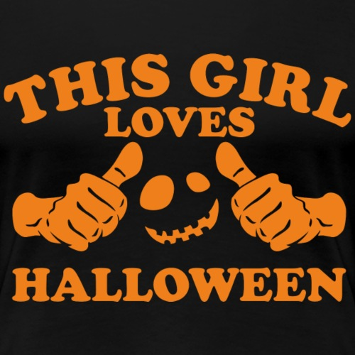 This Girl Loves Halloween - Women's Premium T-Shirt