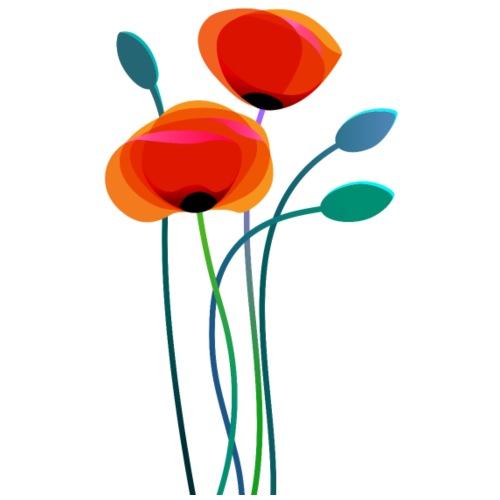 Poppy Flowers - Women's Premium T-Shirt