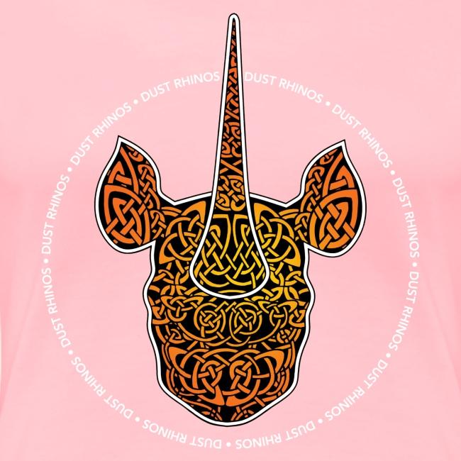 Dust Rhinos Orange Knotwork