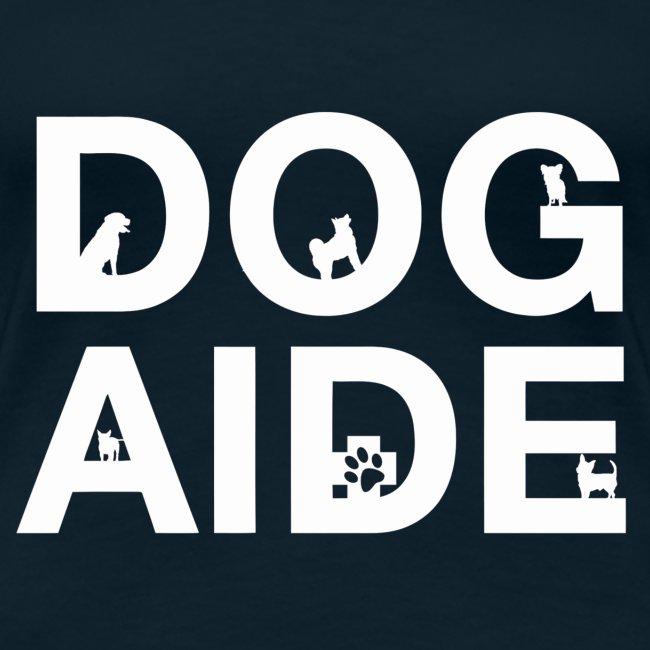 dog aide NEW white