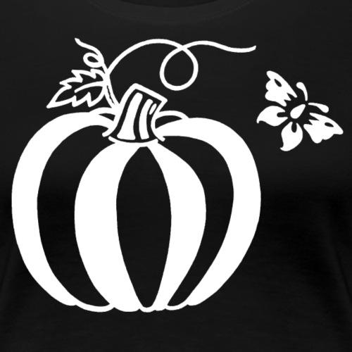 Pumpkin Butterfly Design - Women's Premium T-Shirt