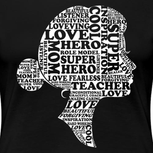 Mother Definition, Teacher Mom, Great Teacher Mom - Women's Premium T-Shirt