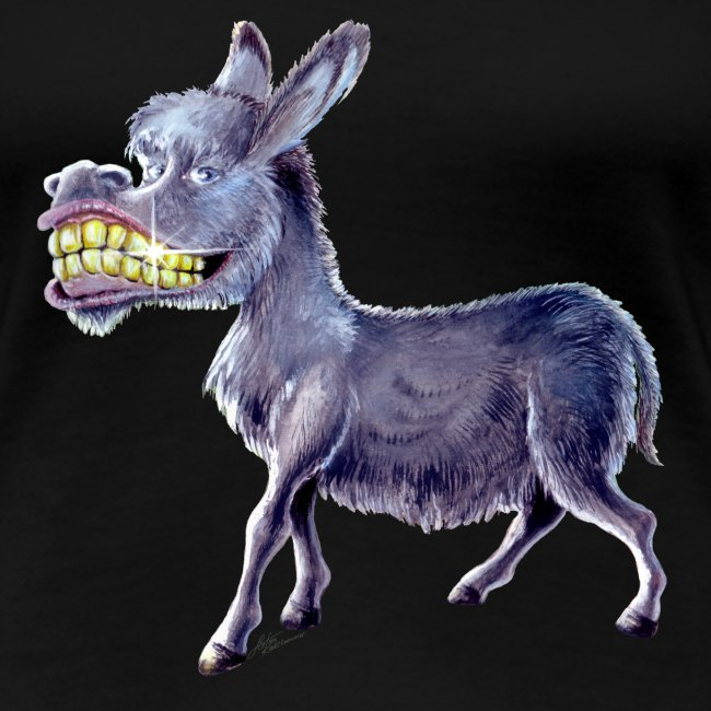 Funny Keep Smiling Donkey