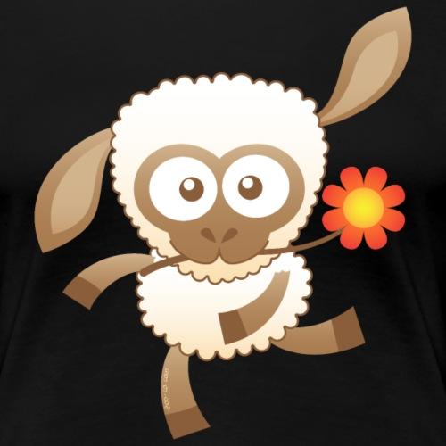 Cute Baby Sheep - Women's Premium T-Shirt