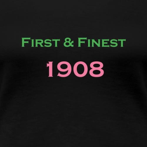 AKA First & Finest - Women's Premium T-Shirt
