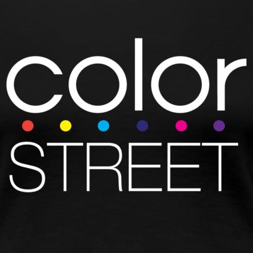 Color Street White Block Logo with Color Dots - Women's Premium T-Shirt