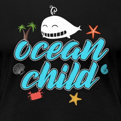 Ocean Child Whale - Women's Premium T-Shirt