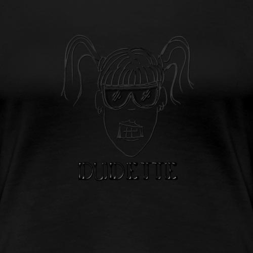 Dudette Head 1 - Women's Premium T-Shirt