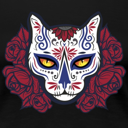 La Muerte Cat - Women's Premium T-Shirt