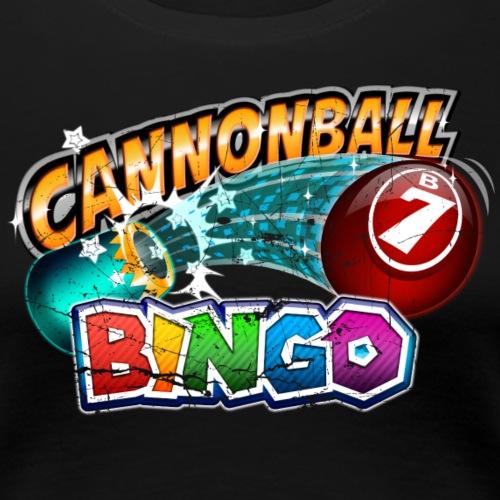 Vintage Cannonball Bingo Logo - Women's Premium T-Shirt