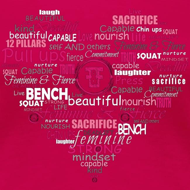 Feminine and Fierce Heart