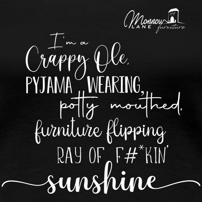 Ray of Sunshine - White text