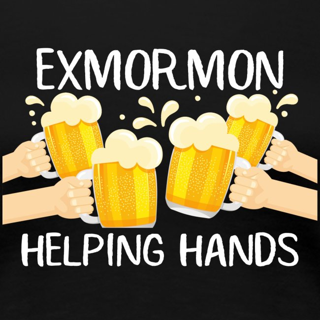 Exmormon Helping Hands white typo