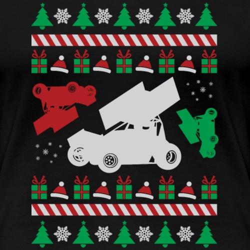 Sprint Car Ugly Christmas - Women's Premium T-Shirt