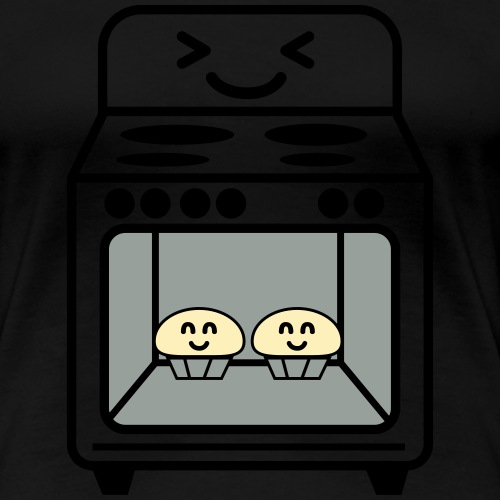 pregnancy announcement Bun in the oven twins - Women's Premium T-Shirt