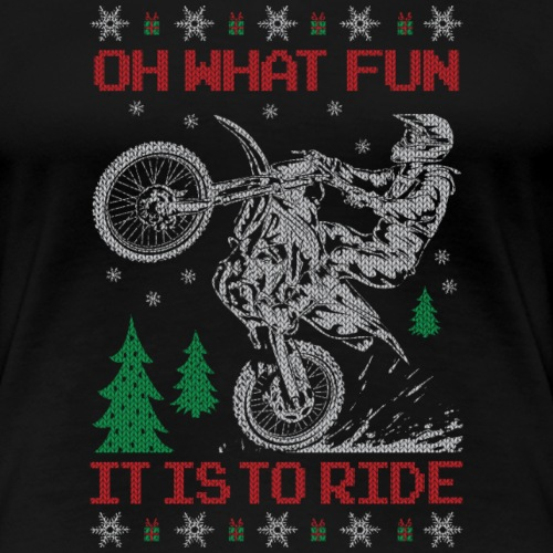 Motocross Ugly Christmas - Women's Premium T-Shirt