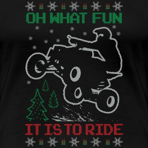 ATV Quad Ugly Christmas - Women's Premium T-Shirt
