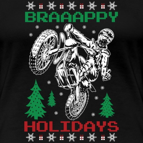 Motorcross Christmas - Women's Premium T-Shirt