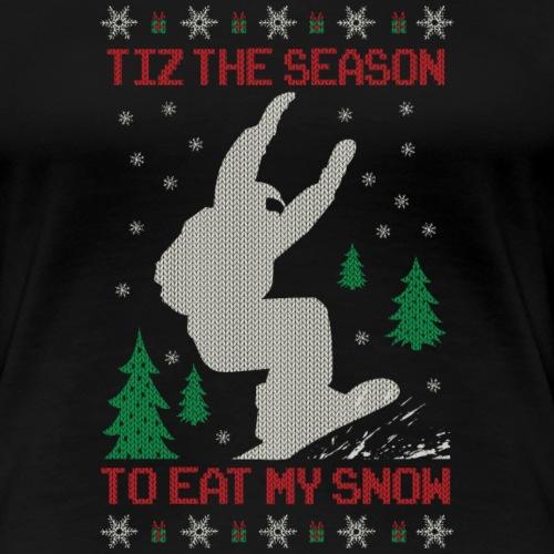 Snowboarder Christmas - Women's Premium T-Shirt