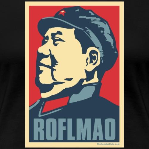 Mao: Obama Poster Parody - Women's Premium T-Shirt