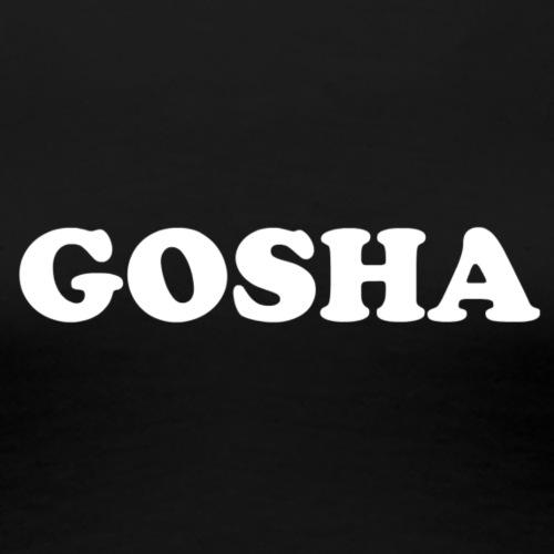 GOSHA ORIGINAL (WHITE) - Women's Premium T-Shirt