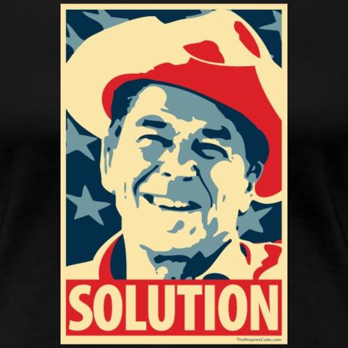 Reagan: Solution - Obama Poster Parody - Women's Premium T-Shirt