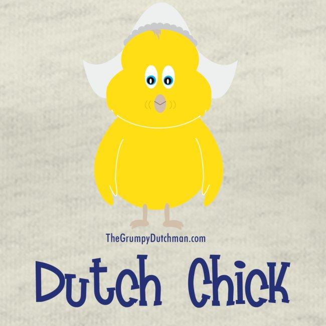 Dutch Chick blue lettering