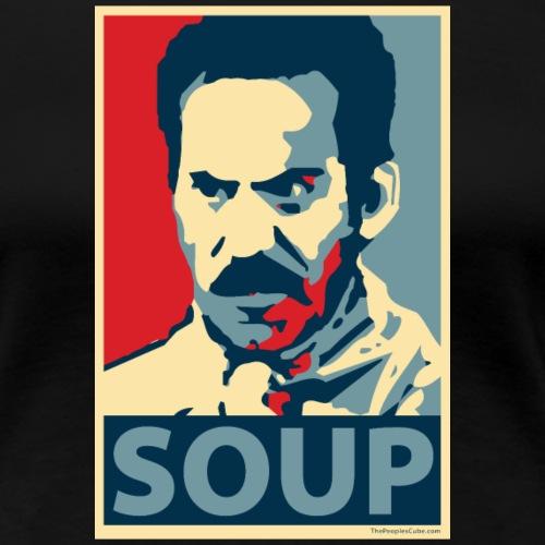 Obama Poster Parody Soup - Women's Premium T-Shirt