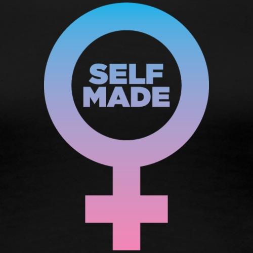 Self-Made Woman symbol - Women's Premium T-Shirt