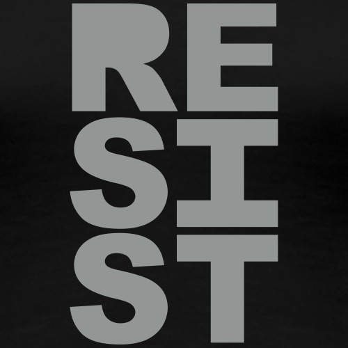 RESIST vertical solid - Women's Premium T-Shirt