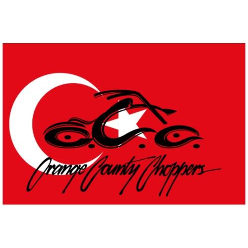 Turkey flag with OCC Dagger on back - Women's Premium T-Shirt