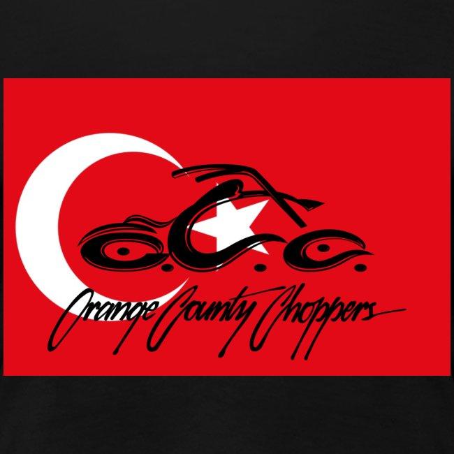 Turkey flag with OCC Dagger on back
