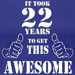 22nd Birthday Get Awesome T Shirt Made in 1995 - Women's Premium T-Shirt
