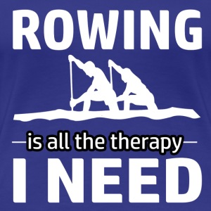Rowing is my therapy - Women's Premium T-Shirt