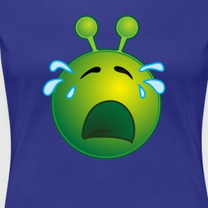Bestseller Funny Crying Sad Alien Face with Tears - Women's Premium T-Shirt