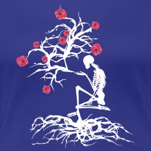Sketeton tree of life in bloom in white - Women's Premium T-Shirt