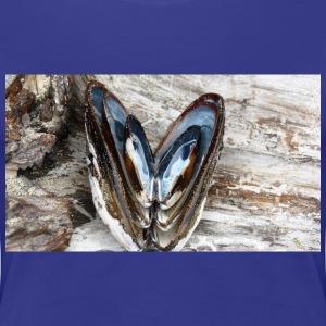 Shells forming Hearts on the Coast of Oregon - Women's Premium T-Shirt