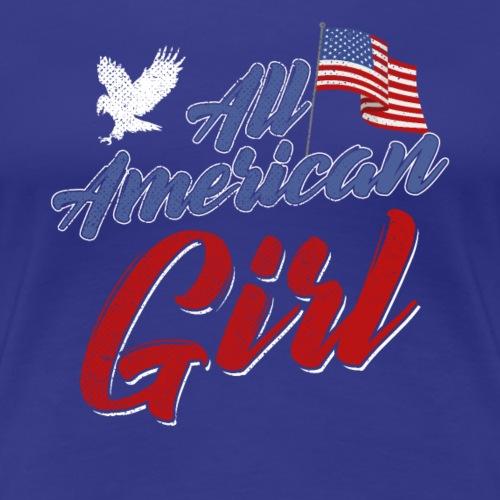 All American Girl 4th of July Patriot - Women's Premium T-Shirt