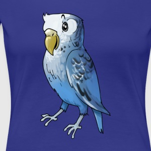 parakeet finch budgerigar budgie parot dove bird - Women's Premium T-Shirt