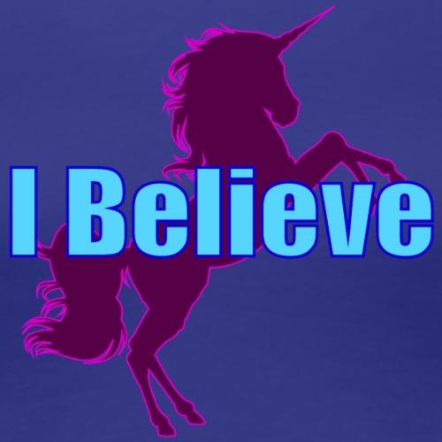 Unicorn purple and blue - Women's Premium T-Shirt