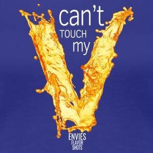 Edgy Can't Touch My V White - Women's Premium T-Shirt